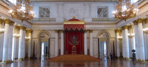 The Great Throne Room of the Russian Empire