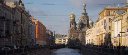 View to the Church On The Spilled Blood
