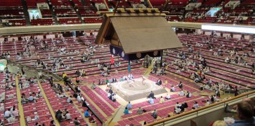 The Kokugikan (sumo arena).