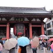 Kaminarimon (thunder gate) at Senso-ji.