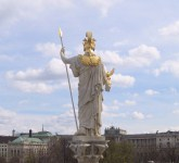 Athena looks out over imperial Vienna