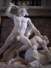 Hercules beating off a centaur