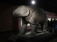 Stone rhino from the Tang dynasty.
