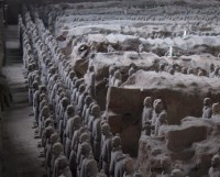 More than 70,000 terracotta figures have been discovered.