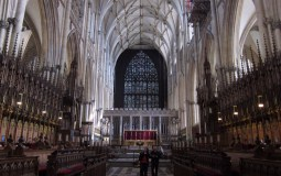The quire (the eastern window was under restoration)