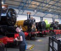 Various steam engines