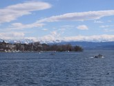 The Alps across Lake Zurich.