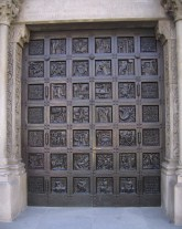 The door of Grossmünster.